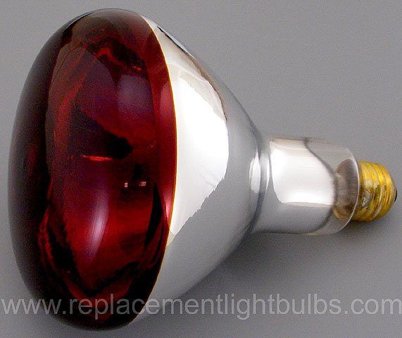 Ge 250r40 10 120v 250w Red Heat Heater Infrared Light Bulb Replacement Lamp