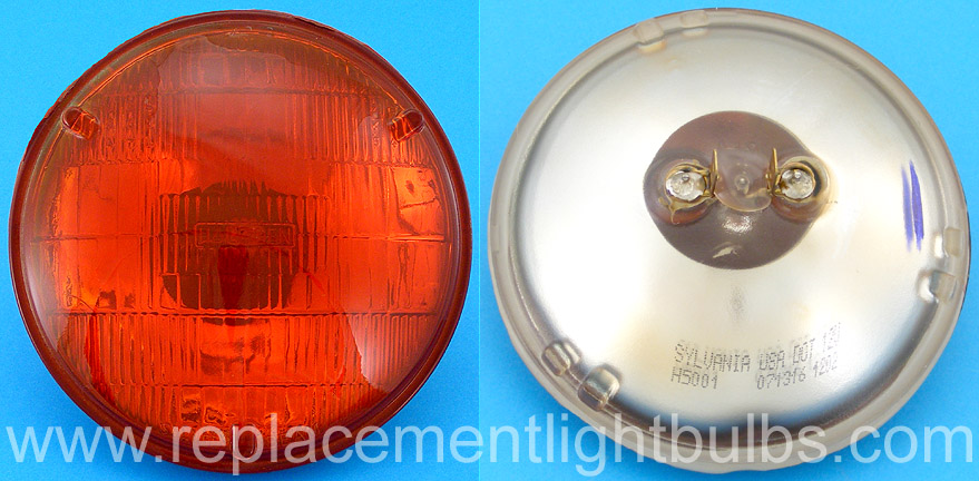 4001a 12v 37 5w H5001 50w 4001 Amber Sealed Beam