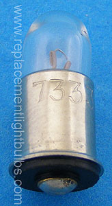 7333 5V .06A Midget Flanged light bulb replacement lamp