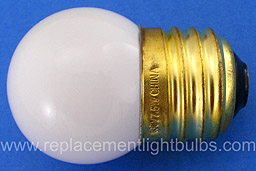 7.5S11/W White 7.5W 130V S11 Glass, E26 Base Replacement Light Bulb, Lamp