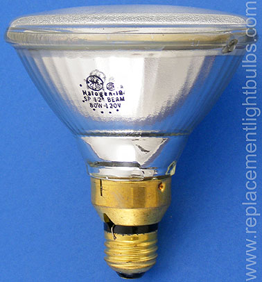 GE 80PAR/HIR/SP12 80W 120V Halogen-IR SP 12° Beam Spot Lamp
