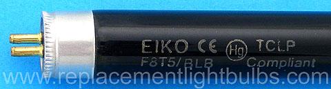 12 inch F8T5//BLB 8 watt Blacklight fluorescent light bulb