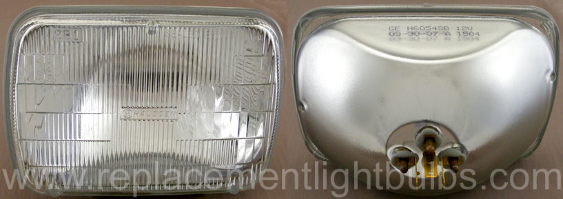 GE H6054SB 12V 2B1 Halogen Sealed Beam Auto Head Lamp