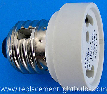 SC-6023 Permanent Adapter to use a GU24 Base Fluorescent in an E26 Medium Screw Socket