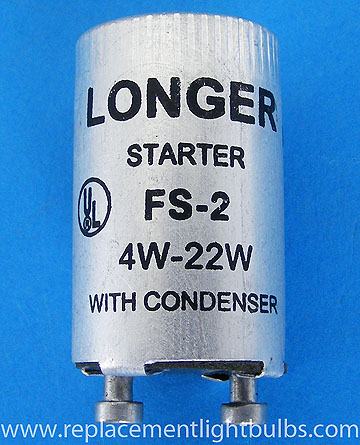 FS-2 FS2 Fluorescent Lamp Starter with Condenser for 4W-22W Lamps
